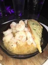 BEST Sizzling Shrimp with Parmesan Toast