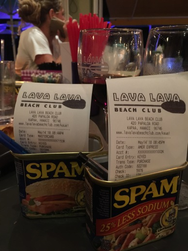 Yes! They serve the bill in a Spam can.