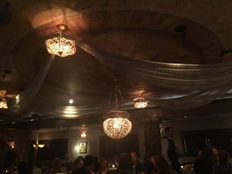 View from our table, gorgeous chandeliers