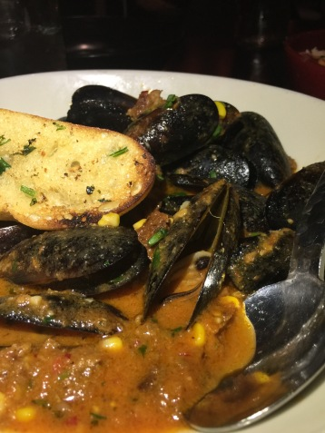 Mussels in a Spicy Sausage Broth